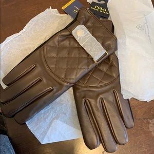 Ralph Lauren Quilted Racing Gloves
